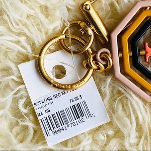 Tory Burch Accessories - NWT: TORY BURCH Geometrical Key Ring / Bag Charm